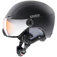 Uvex Hlmt 400 Visor Style Kask narciarski z szybką czarny 2018