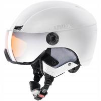 Uvex Hlmt 400 Visor Style Kask narciarski z szybką biały 2019