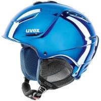 Uvex P1us Pro Chrome LTD Kask narciarski snowboard z szybką niebieski 2018
