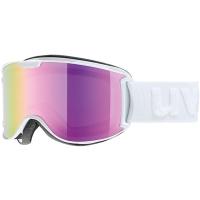 Uvex Skyper LM Gogle narciarskie white mat  z szybą litemirror pink lasergold lite 2019