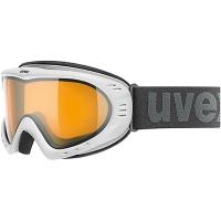 Uvex Cevron Gogle narciarskie polarwhite mat z szybą lasergold lite clear 2018