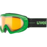 Uvex Cevron Gogle narciarskie green mat z szybą lasergold lite clear 2018