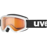 Uvex Speedy Pro Gogle narciarskie junior dziecięce white z szybą lasergold 2018