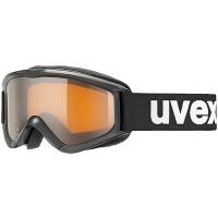 Uvex Speedy Pro Gogle narciarskie junior dziecięce black z szybą lasergold