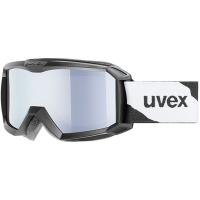 Uvex Flizz LM Gogle narciarskie junior dziecięce black mat z szybą litemirror silver clear