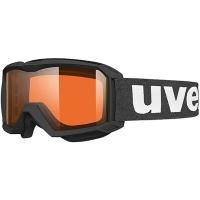Uvex Flizz LG Gogle narciarskie junior dziecięce black mat z szybą lasergold clear