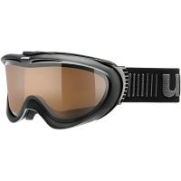 Uvex Comanche P Gogle narciarskie black mat z szybą polavision brown clear
