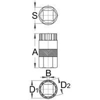 Unior Klucz do demontażu kaset Shimano 1670.5/4