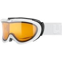 Uvex Comanche LGL Gogle narciarskie white mat lasergold lite clear