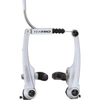 Tektro 857AL Hamulec V-brake na jedno koło srebrny do rowerów z błotnikami