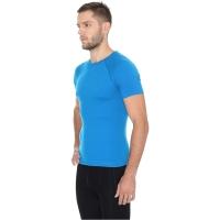 Brubeck koszulka męska krótki rękaw active wool niebieska