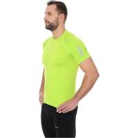 Brubeck Athletic Koszulka męska z krótkim rękawem neonowa zielona