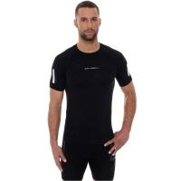 Brubeck Athletic Koszulka męska z krótkim rękawem czarna