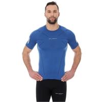 Brubeck Athletic koszulka męska z krótkim rękawem ciemno niebieska