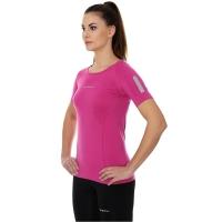 Brubeck Athletic koszulka damska z krótkim rękawem amarantowa