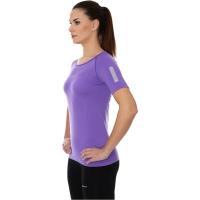 Brubeck Athletic koszulka damska z krótkim rękawem fioletowa