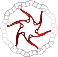 Dartmoor Nano Tarcza hamulcowa 6 śrub czerwona