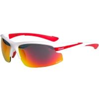 Rogelli Skyhawk Okulary rowerowe biało czerwone 3 pary soczewek
