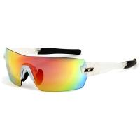 Rogelli Eagle Okulary rowerowe białe 3 soczewki