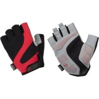 Accent Apex Rękawiczki rowerowe czarno czerwone