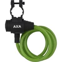 AXA Zipp Zapięcie rowerowe 120cm 8mm z uchwytem zielone