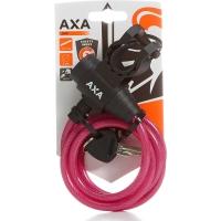 AXA Zipp Zapięcie rowerowe 120cm 8mm z uchwytem różowe