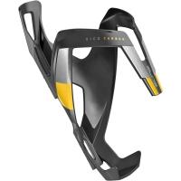 Elite Vico Carbon Koszyk na bidon czarno żółty