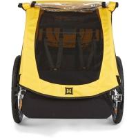 Burley Bee Przyczepka rowerowa dla dziecka dwuosobowa żółta
