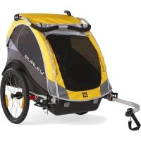 Burley Cub Przyczepka rowerowa dla dziecka dwuosobowa żółta
