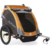 Burley D'Lite Przyczepka rowerowa dla dziecka dwuosobowa pomarańczowa