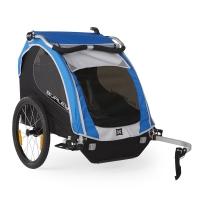 Burley Encore Przyczepka rowerowa dla dziecka dwuosobowa niebieska