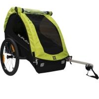 Burley Minnow Przyczepka rowerowa dla dziecka jednoosobowa zielona