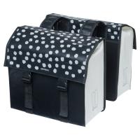 Basil Urban Load Double Bag 48-53L Sakwa rowerowa miejska podwójna czarno biała