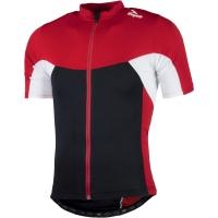 Rogelli Recco 2.0 Koszulka rowerowa czerwono czarno biała