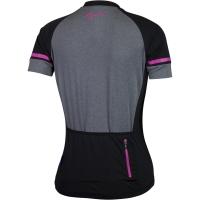Rogelli Carlyn 2.0 Koszulka z krótkim rękawem czarno szaro różowa