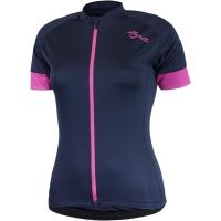 Rogelli Modesta Koszulka rowerowa damska granatowo różowa
