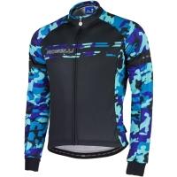 Rogelli Camo Koszulka rowerowa długi rękaw czarna camo