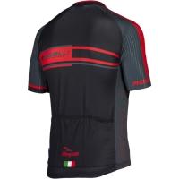 Rogelli Andrano Koszulka rowerowa letnia czarno szaro czerwona
