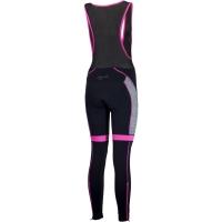 Rogelli Carou Damskie spodnie rowerowe długie na szelkach czarno różowe