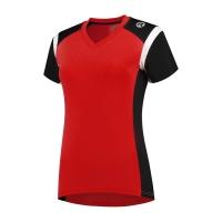 Rogelli Eabel Koszulka do biegania damska czerwono czarno biała