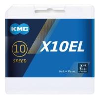 KMC X10EL Ti-N Łańcuch 10 rzędowy 114 ogniw + spinka złoty