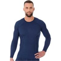Brubeck Active Wool Koszulka z długim rękawem męska granatowa