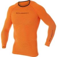 Brubeck 3D Run PRO Koszulka z długim rękawem męska pomarańczowa
