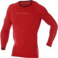 Brubeck 3D Run PRO Koszulka z długim rękawem męska czerwona