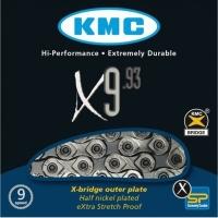 KMC X9.93 Łańcuch 9 rzędowy 116 ogniw oem + spinka