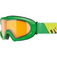 Uvex Cevron Gogle narciarskie green mat z szybą lasergold lite clear 2019