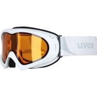 Uvex Cevron Gogle narciarskie polarwhite mat z szybą lasergold lite clear 2019