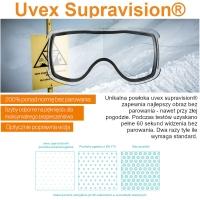 Uvex Cevron Gogle narciarskie polarwhite mat lasergold lite clear