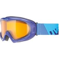 Uvex Cevron Gogle narciarskie indigo mat z szybą lasergold lite clear 2019