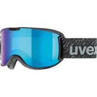 Uvex Skyper LM Gogle narciarskie black mat szybą litemirror blue clear 2019
